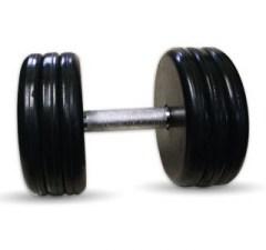 """Гантель черная """"Классик"""" 37 кг МВ Barbell MB-FdbEM-B37"""