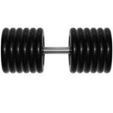 Гантель 51 кг черная неразборная