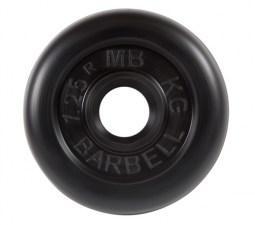 Диск обрезиненный 31 мм 1,25 кг черный МВ Барбел MB-PltB31-1,25