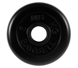 Диск обрезиненный 50 мм 5 кг черный МВ Barbell MB-PLTB50-5