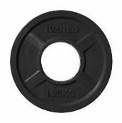 Олимпийский блин 51 мм JOHNS 1,25кг черный обрезиненный