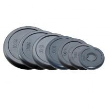 Набор олимпийских дисков JOHNS d51 мм черн. обрезиненные от 1,25 до 25 кг по 2 шт.