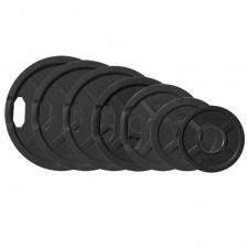 Комплект олимпийских обрезиненных дисков JOHNS черн. 2-х хват., от 1,25 кг до 25 кг