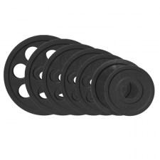 Набор блинов для штанги JOHNS черн. 7-ми хват. обрезин. d51мм. от 1,25 кг до 25 кг