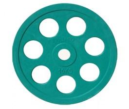 Диск JOHNS обрезиненный 10кг., d51мм., зеленый