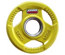 Металлический диск 51 мм для штанги JOHNS цветн. 3-х хват. обрезин.,1.25кг