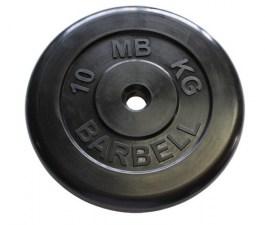 ДИСК ОБРЕЗИНЕННЫЙ ЧЕРНОГО ЦВЕТА, 50 ММ MB BARBELL MB-PLTB50-10