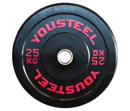 Диск каучуковый бамперный 25 кг Yousteel