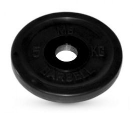 Диск обрезиненный, черного цвета 26 мм MB Barbell MB-PltB26-5
