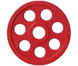 Диск JOHNS обрезиненный 5кг., d51мм., красный